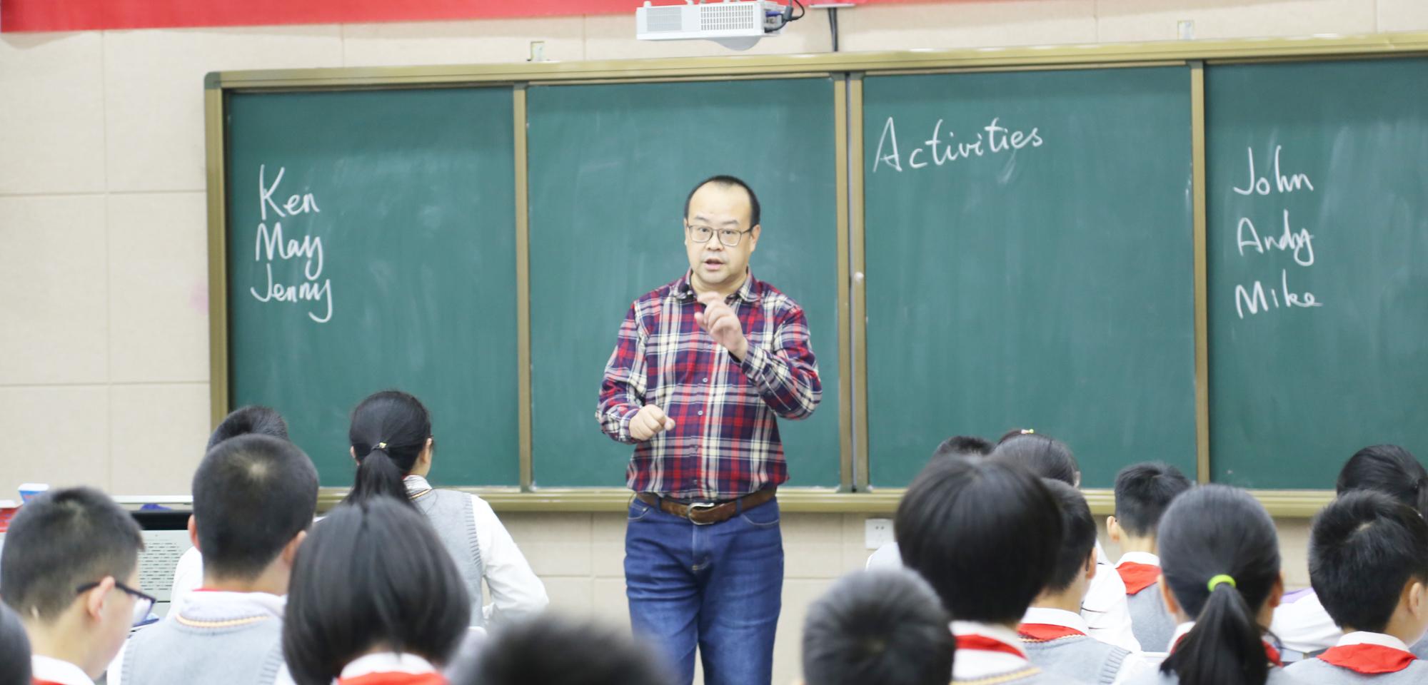 联盟副理事长著名英语教学专家田湘军的精彩课堂受到一致欢迎